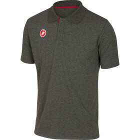 Castelli Race Day Polo Heren, melange grey